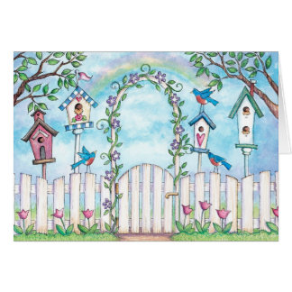 Spring Robins - Greeting Card