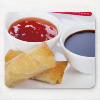 Spring Rolls and Dips Mousepad