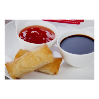 Spring Rolls and Dips Print