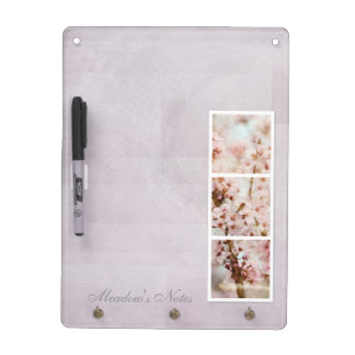 Spring Romance Cherry Blossoms Dry-Erase Board