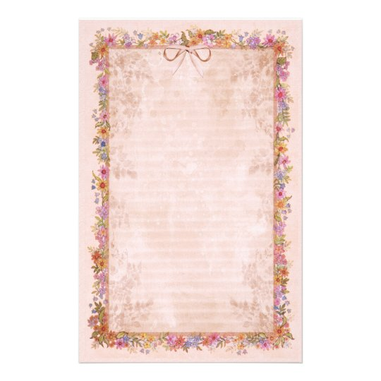 Spring Romance - Pink Stationery