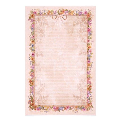 Spring Romance - Pink Stationery Design