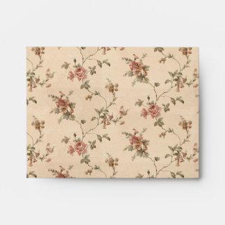 spring romance victorian rose pattern envelope