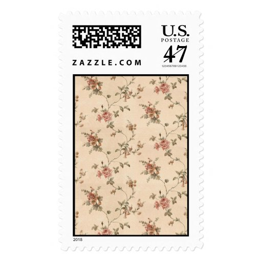 spring romance victorian rose pattern postage