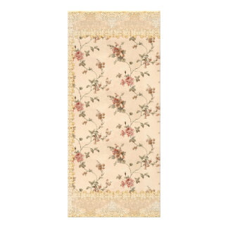 spring romance victorian rose pattern custom rack cards