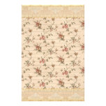 spring romance victorian rose pattern stationery design