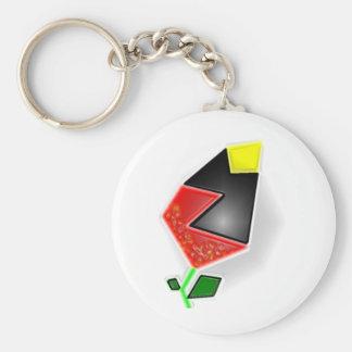 Spring Rose Basic Round Button Keychain