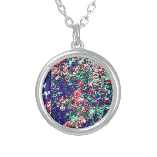 Spring Rose Bushes Silver Plated Necklace