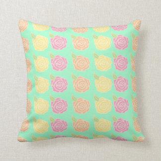 Spring Rose Print Pillows