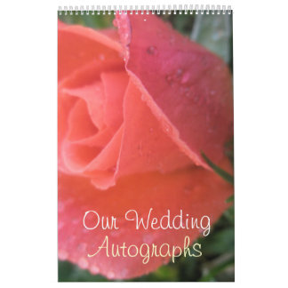 Spring Rosebud Wedding Calendar