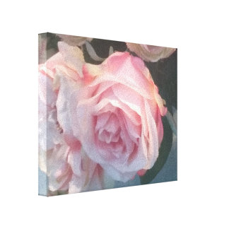 "SPRING ROSES FLORAL ART CANVAS BEAUTIFUL! 1.5"" wra"