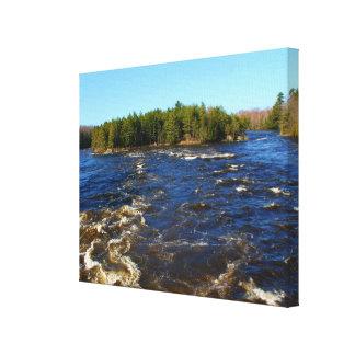 Spring Runoff - Stillwater River Canvas Print