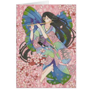 Spring Sakura Fairy note card
