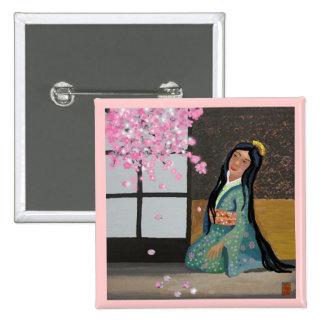 spring sakura pinback button