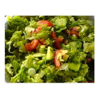 spring salad postcard