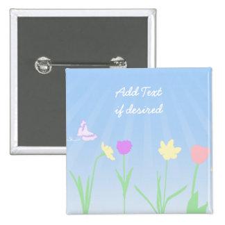 Spring Scene Magnet Button