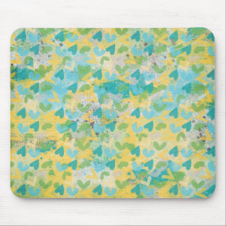 SPRING SCRAPBOOKING HEARTS LAYERED  SPLATTERS WHIT MOUSE PAD