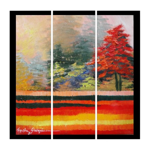 Spring Season 1 AcryliPrint®HD Triptych Wall Art Spring is one of the four conventional temperate seasons, following winter and preceding summer.