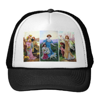 Spring Season Chidren Lamb Ladies paintings Trucker Hat