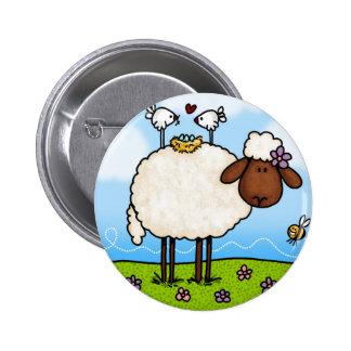 spring sheep button