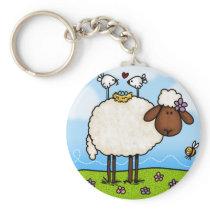 spring sheep keychain