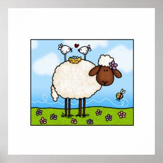 spring sheep poster