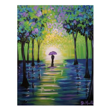paintingbuzz Spring Shower Postcard