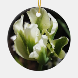 Spring Showers Tulip Garden Botanical Photography Ceramic Ornament