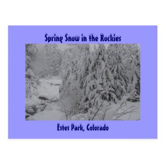 Spring Snow in the Rockies Postcard