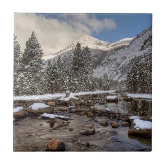 Spring snow, Sierra Nevada, CA Ceramic Tile