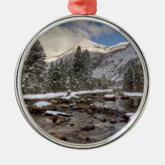 Spring snow, Sierra Nevada, CA Metal Ornament