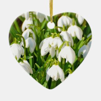 Spring Snowflake & Summer Snowflake or Loddon Lily Ceramic Ornament