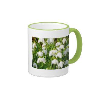 Spring Snowflake & Summer Snowflake or Loddon Lily Ringer Coffee Mug