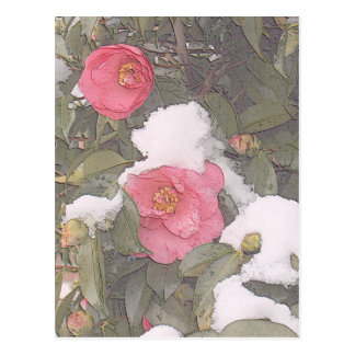 SPRING SNOWS by SHARON SHARPE Postcard