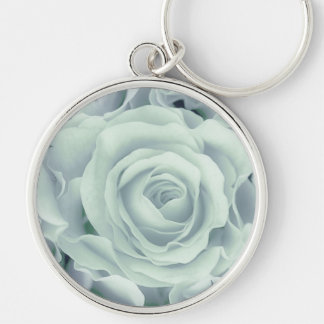 Spring Soft Green Roses + Satin Bouquet, template Keychain