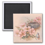 Spring Song 2 Inch Square Magnet