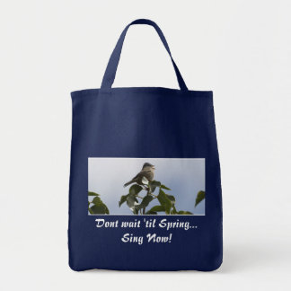 SPRING SONG BIRD Collection Grocery Tote Bag