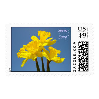 Spring Song! stamps Yellow Daffodils Blue Sky