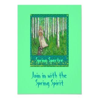 "Spring Spectre 5"" X 7"" Invitation Card"