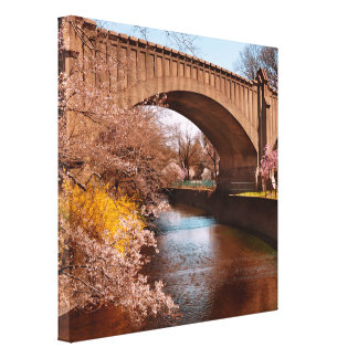Spring - Springtime in Newark Stretched Canvas Prints