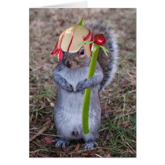 Spring Squirel Happy Spring card