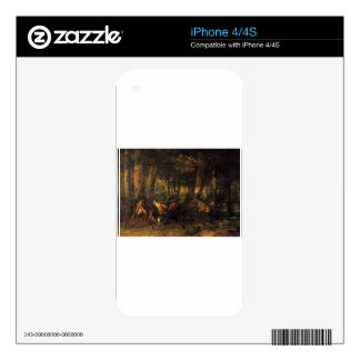 Spring, Stags Fighting by Gustave Courbet Skin For The iPhone 4S