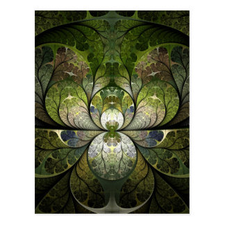 Spring Stained Glass Postcard