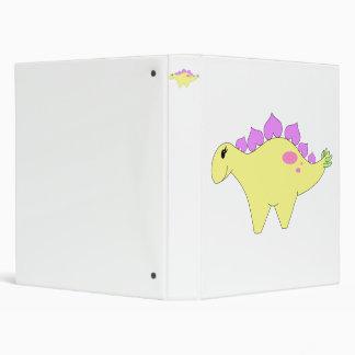 Spring Stegosaurus Vinyl Binders