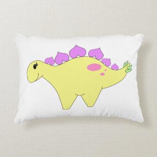 Spring Stegosaurus Decorative Pillow