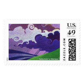 """Spring Storm"" by Alida Saxon Postage"