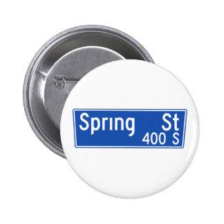 Spring Street, Los Angeles, CA Street Sign Pins