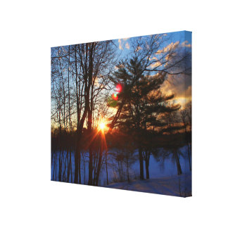 Spring Street Sunrise Canvas Print