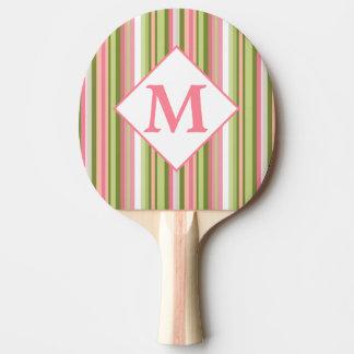 Spring Stripes monogrammed ping pong paddle