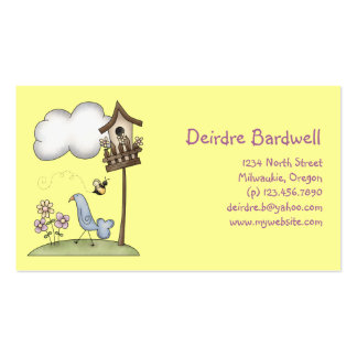 Spring Stuff · Birdhouse & Bird Double-Sided Standard Business Cards (Pack Of 100)